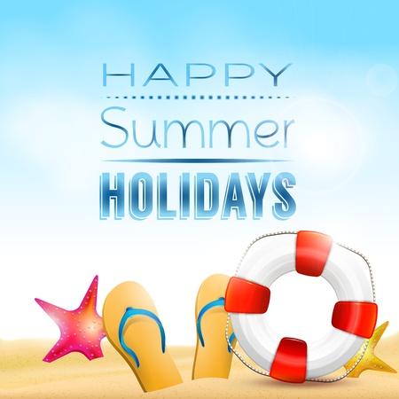 Happy summer holidays - creative background Stock Vector - 20182659
