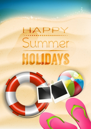 Happy summer holidays - poster Vector