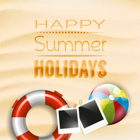 copyspace: Happy summer holidays - poster