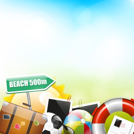 Summer background with place for your text Stock Vector - 20182592