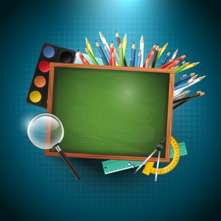 Modern school background with copy space Vector