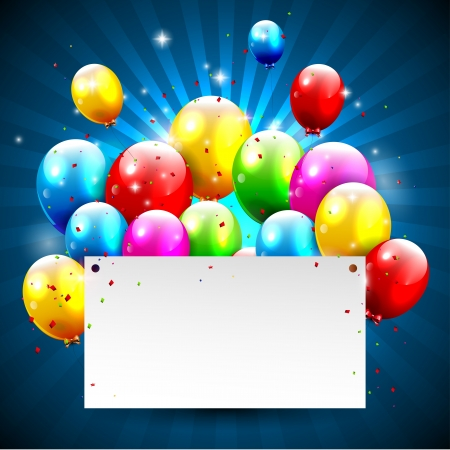 bday party: Modern birthday background with place for text Illustration