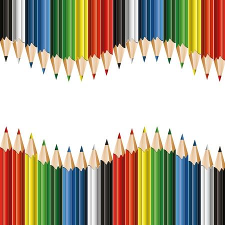 Kleurrijke potloden - achtergrond met copyspace