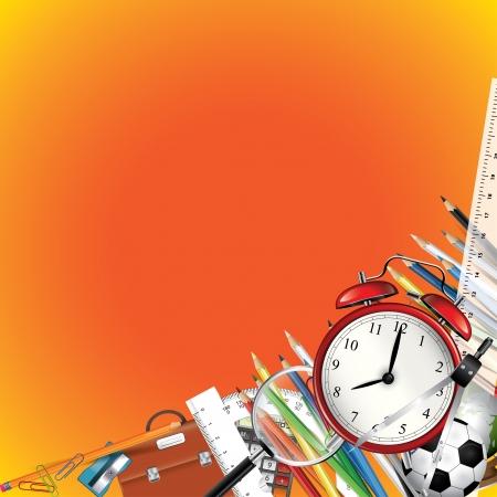 tužka: Školní tabule pozadí školní potřeby