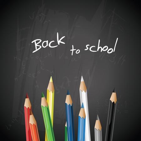 School blackboard with pencils - background Stock Vector - 20182687