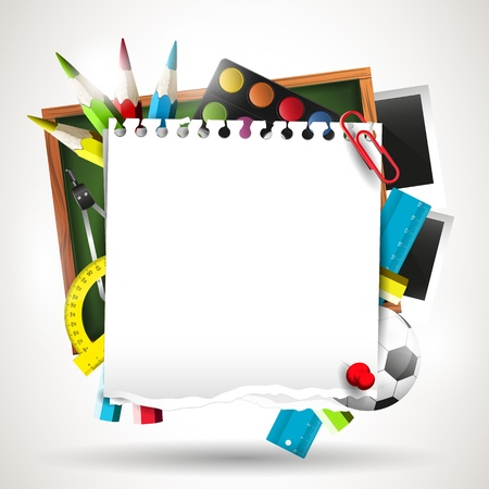 school frame: Modern school background with empty paper