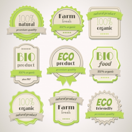 ecologic: Collection of Eco and Bio vintage labels