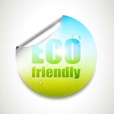 Eco friendly - glossy sticker Vector