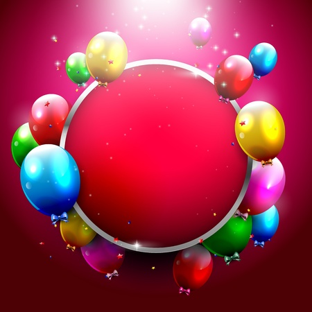 party celebration: Modern birthday greeting card with place for text