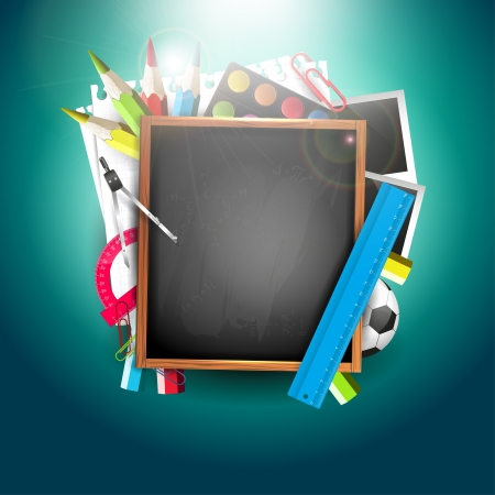 Back to school - creative vector background Vector