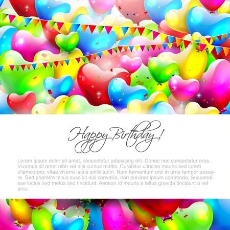 Colorful birthday background with place for text Stock Vector - 21180171