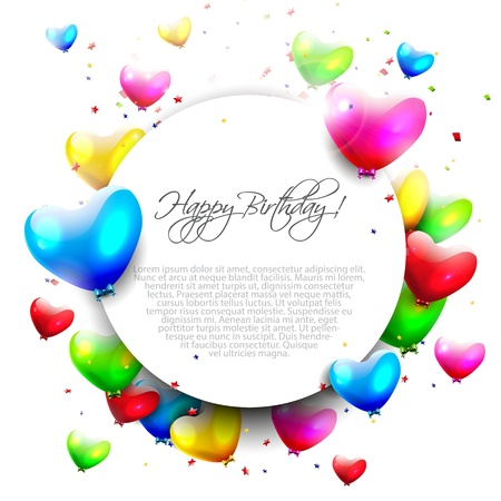 birthday party background: Colorful birthday background with place for text
