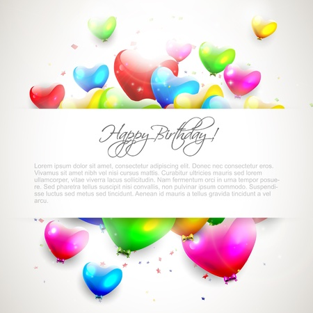 Colorful birthday background with place for text Stock Vector - 21180177
