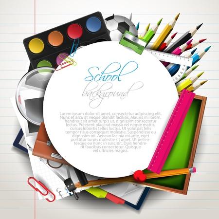 School supplies with copyspace