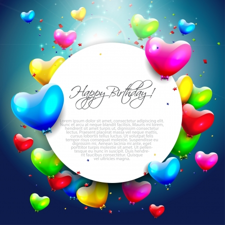 Colorful birthday background with place for text Stock Vector - 21541236
