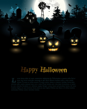 halloween party: Halloween poster Illustration