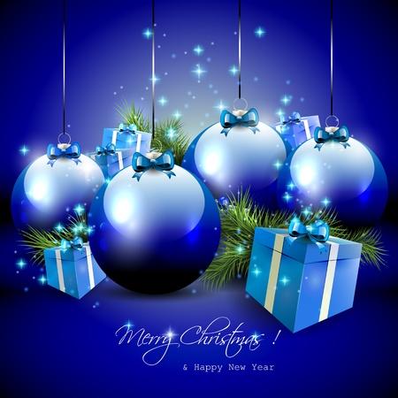 Luxe fond bleu Noël Banque d'images - 21541376