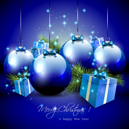 Luxury blue Christmas background
