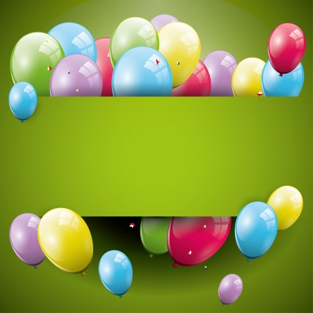 Sweet birthday background with balloons and copyspace Stock Vector - 21910730
