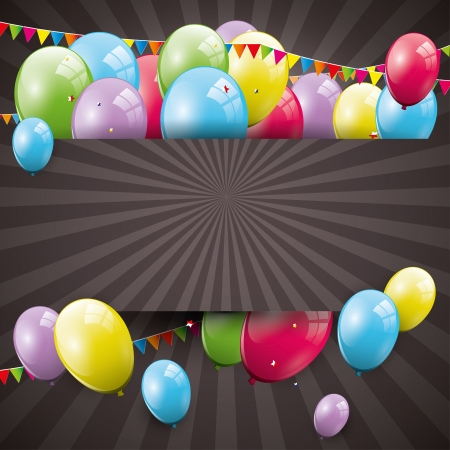 Sweet birthday background with balloons and copyspace Stock Vector - 21910727