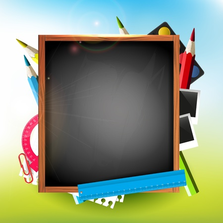 Back to school - vector background with place for text   Vector