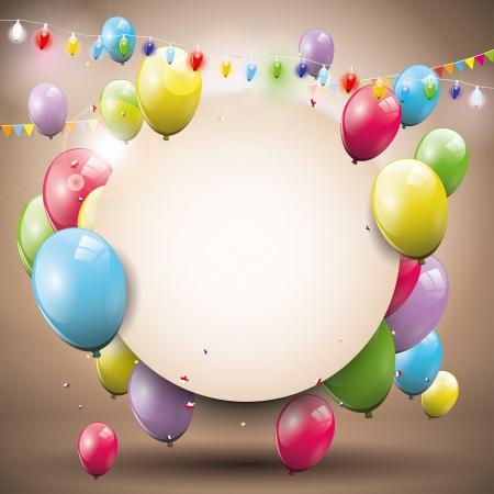 cute backgrounds: Fondo de cumpleaños dulce con lugar para el texto Vectores