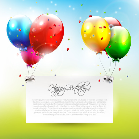 celebration background: Modern birthday background with place for text     Illustration