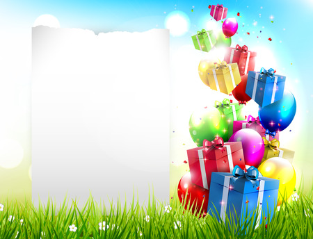 Birthday background with place for text