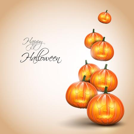 Halloween background with pumpkins Stock Vector - 22561675