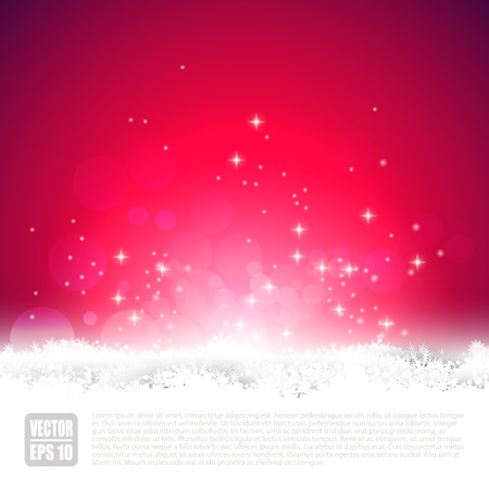 sylvester: Red Christmas greeting card with copyspace Illustration