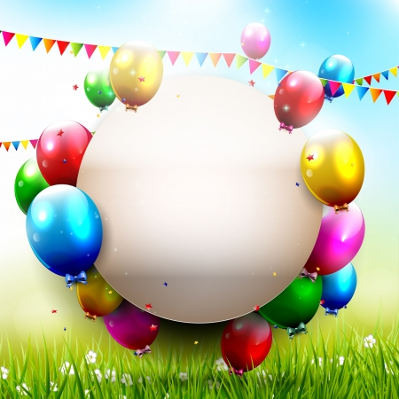 Birthday party - Colorful background with place for text   Vector