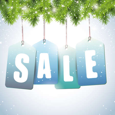 clearance sale: Christmas sale tags - vector background