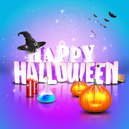 Modern halloween greeting card - vector template Vector