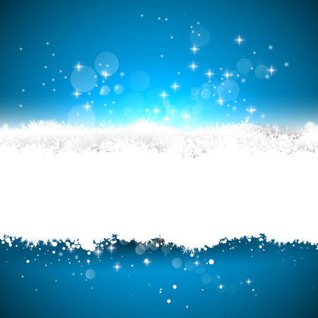 Blue background with white stripe from snow Stock Vector - 23872935