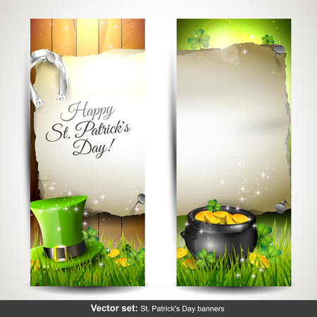 St  Patrick s Day banners Vector