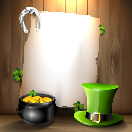 patricks: St  Patrick background Illustration