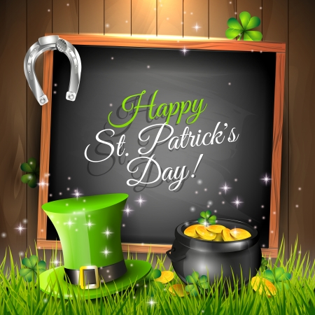 st patricks day: St  Patrick background Illustration