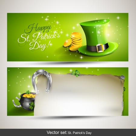 st patricks day: St  Patrick banners