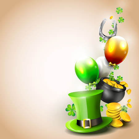 St Patricks Day - background with copyspace   Illustration