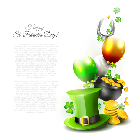 St Patrick's Day - background with copyspace   Vector