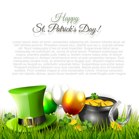 St. Patricks Day background with copy-space Vector