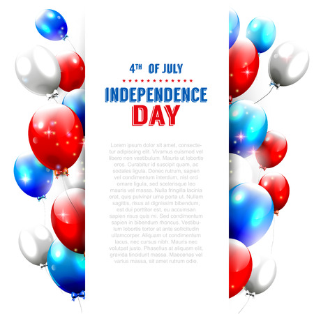 copyspace: Independence day - vector background with copy-space   Illustration