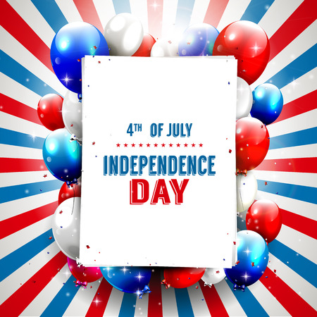 Independence day background with copyspace Vector
