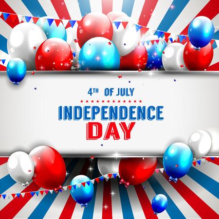 Fondo del día de la Independencia con copyspace Foto de archivo - 27585785