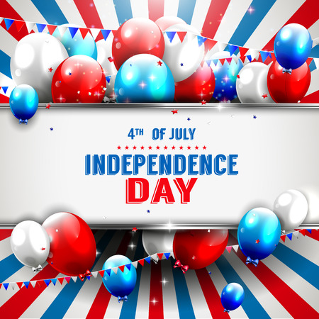 party banner: Independence day background with copyspace
