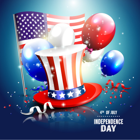 Independence day - luxury vector background   Illustration