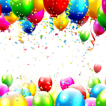 Colorful birthday with place for text  Vector