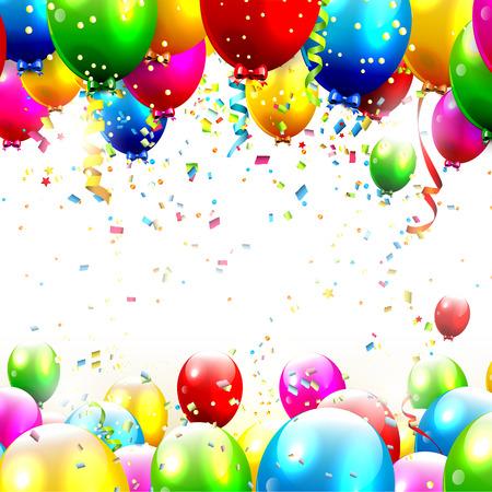 Kleurrijke verjaardag met plaats voor tekst