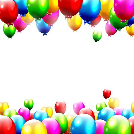 birthday party invitation: Colorful birthday background with place for text