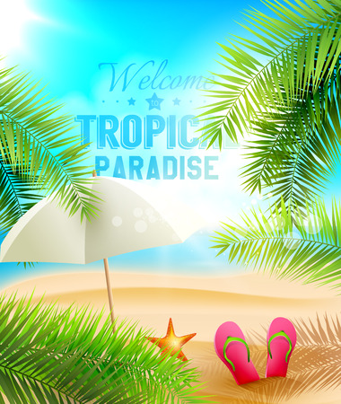 Welcome to Tropical Paradise   Vector